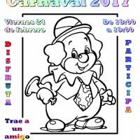 Cartel Fiesta carnaval infantil 2017
