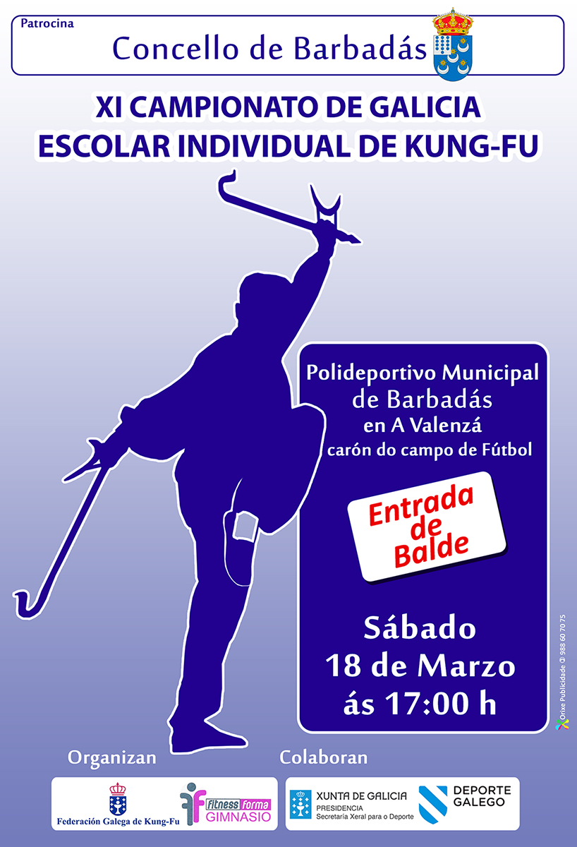 XI CAMPIONATO DE GALICIA ESCOLAR INDIVIDUAL DE KUNG FU