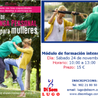 Cartel Defensa Personal para mulleres